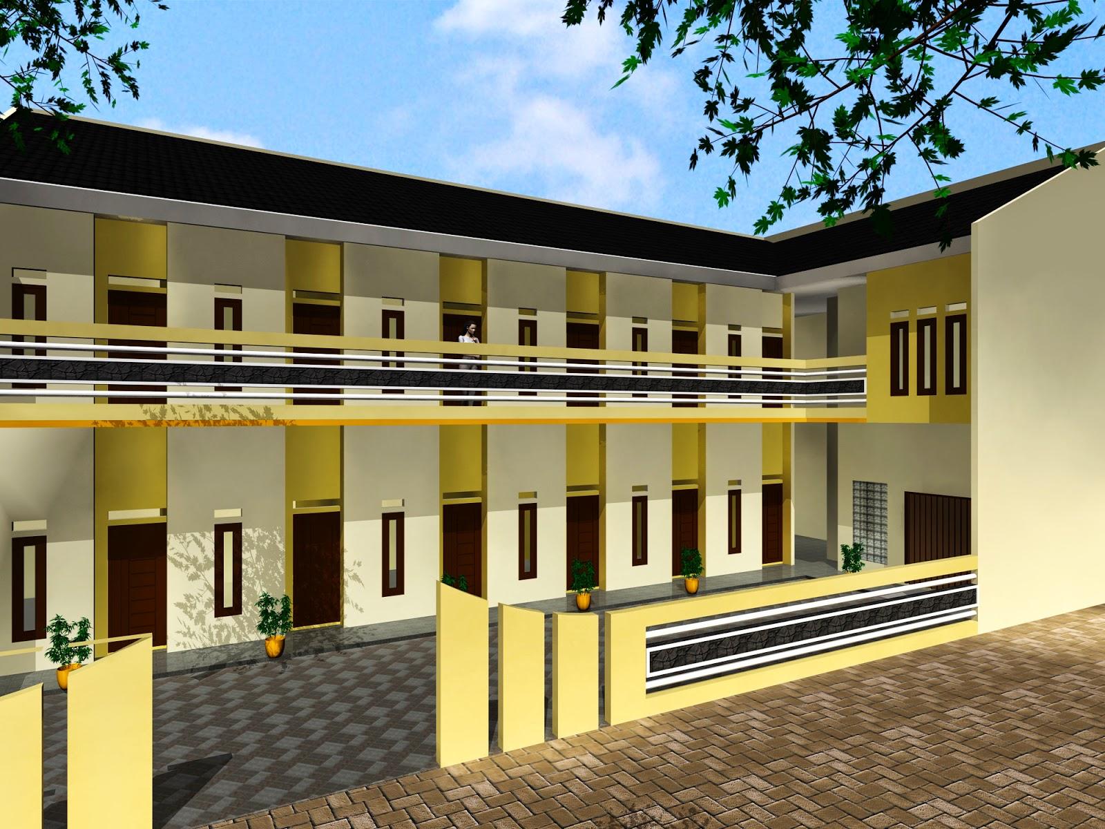 gambar rumah kost minimalis 2 lantai | desain rumah minimalis